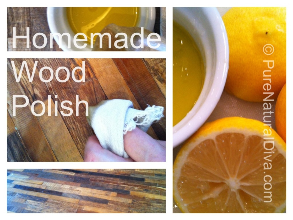 photo With homemade organic furniture polish